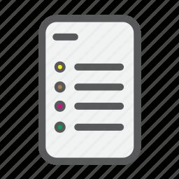 checklist, document, file, list, paper, star icon