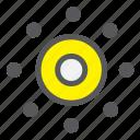 bellring, dart, dot, milestone, pinpoint, target icon