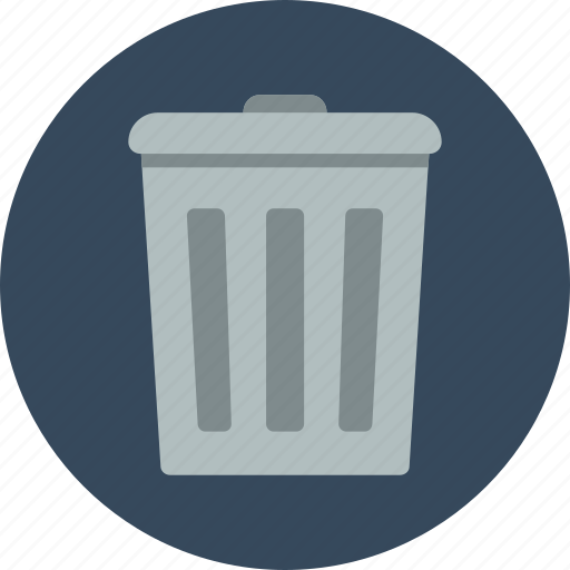 can, trash, trash can icon