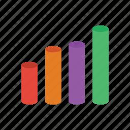 analytics, bar, chart, diagram, graph, statistics icon