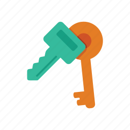key, lock, secure, security icon