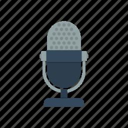 audio, mic, microphone, sound icon