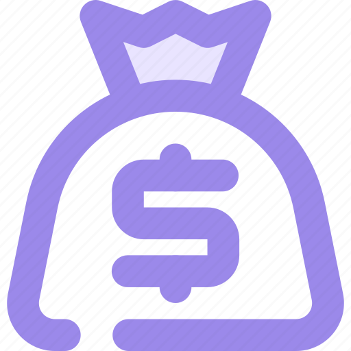 dollar, money, pouch, sac icon