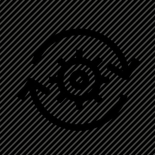 business, global, mechanism, refresh, setting, settings icon