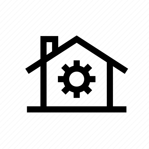 business, finance, home, house, property, setting home, settings icon