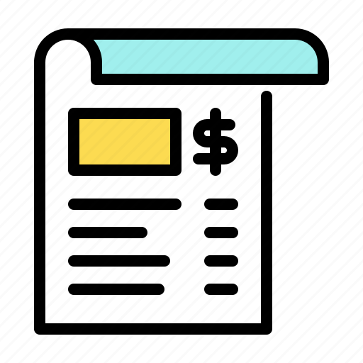 billing, invoice, receipt, shopping icon