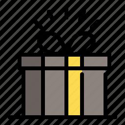 box, gift, gift wrap, shopping icon
