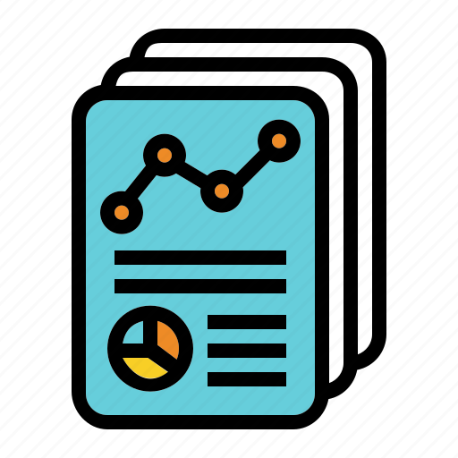 annual, company, graph, report, summary icon
