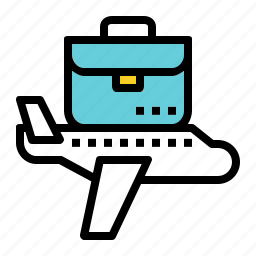 airplane, brifcase, business, fly, suitcase, travel icon