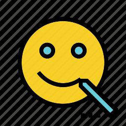 customer, draw, face, happy, retention, service, support icon