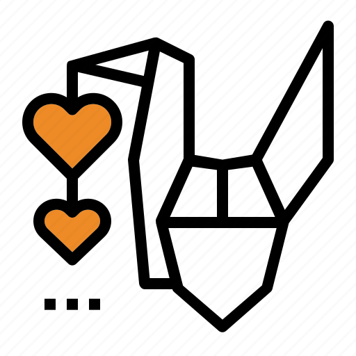 bird, freedom, heart, motivation, origami, passion icon