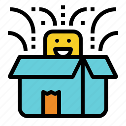 box, launching, new, present, product icon