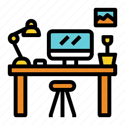 computer, desk, life, office, work icon