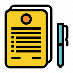 business, contratct, document, pen, signing icon