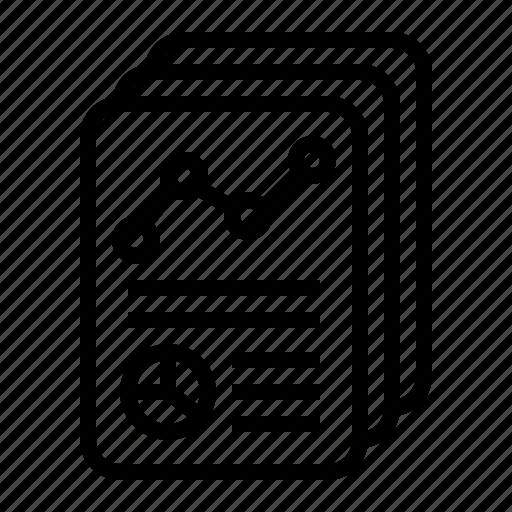 annual, company, graph, report, summary icon
