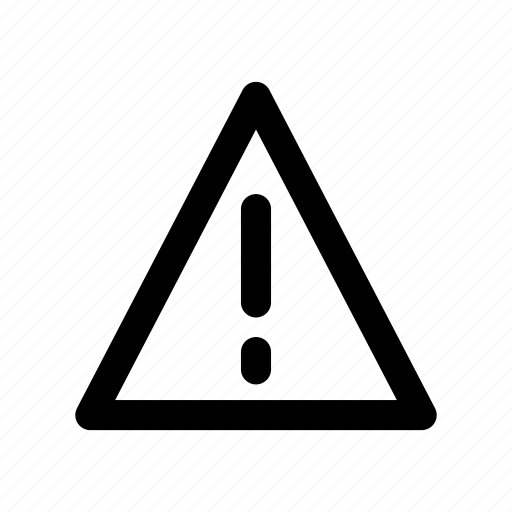 alert, error, notice, sign, warning icon