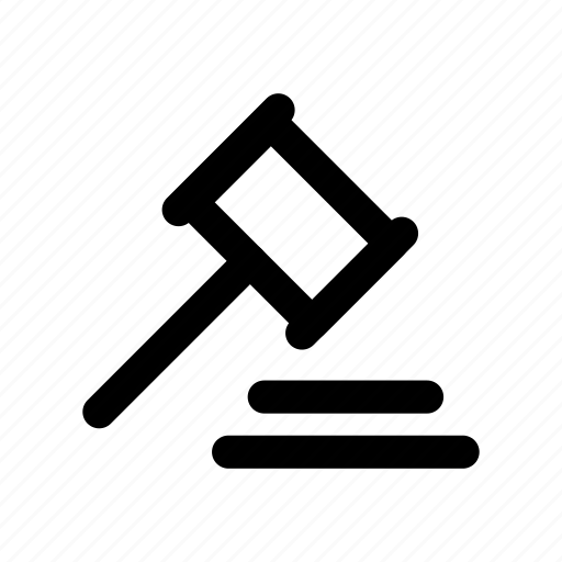auction, court, judge, justice, law icon