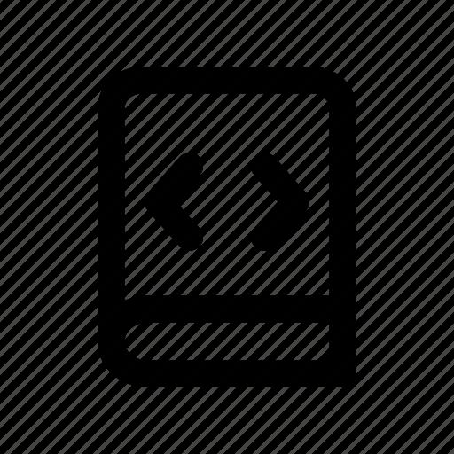 book, coding, education, programming, study icon