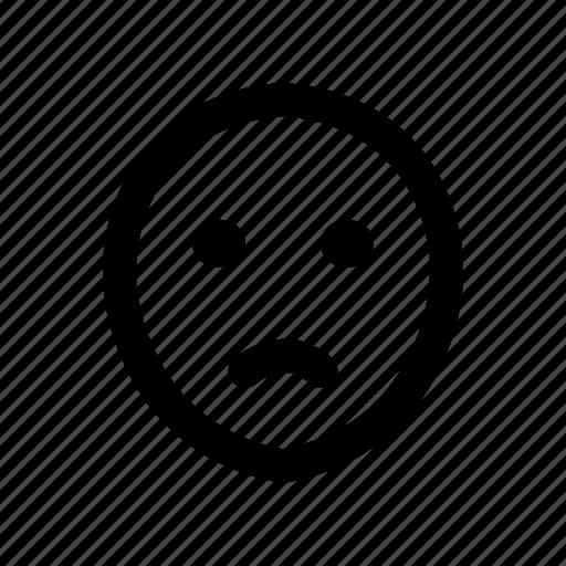 emoji, emotion, face, pack, sad icon