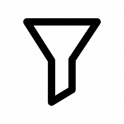 align, filter, funnel, sort, tool icon