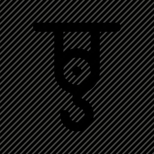 hanger, hook, lifter, machine, tool icon