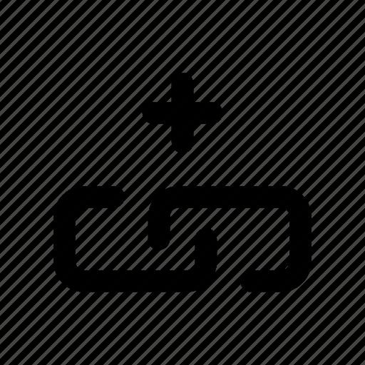 add, chain, link, new, url icon