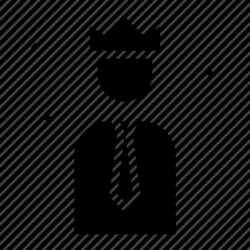 business, businessman, king, leader, salesman icon