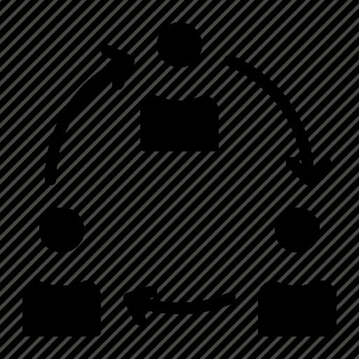 collaboration, employer, organization, sharing, teamwork icon