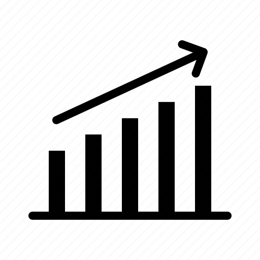 Statistics, arrow, bar, chart, growth, up icon - Download on Iconfinder