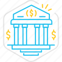 bank, banking, business, finance, loan, money, startup icon