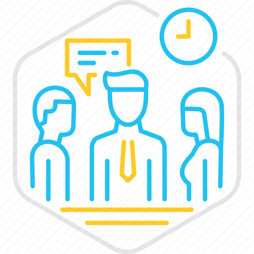 meeting, message, office, team, teamwork, time icon