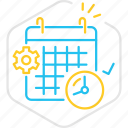business, calendar, date, schedule, startup, time, work icon