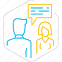chat, discussion, talk, teamwork icon