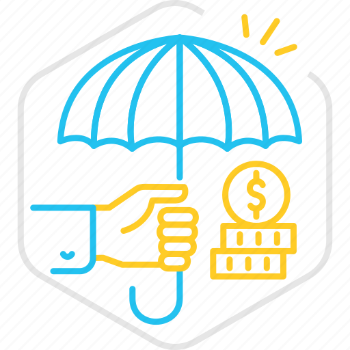 finance, funds, funds protection, insurance, investment, protection, umbrella icon