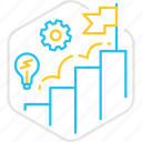 business, flag, graph, idea, startup, success icon