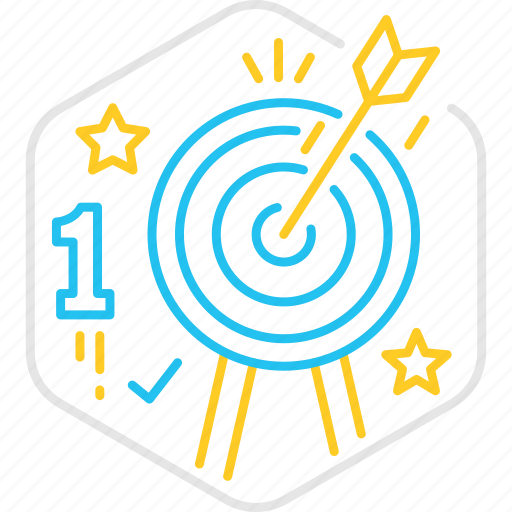 arrow, goa, success, target, winner icon