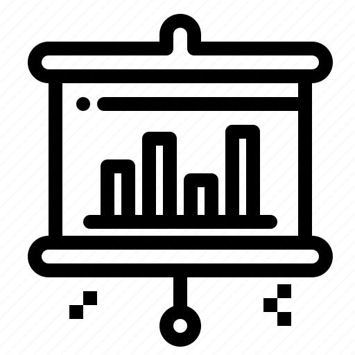 bar, projector, screen icon