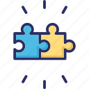 head, jigsaw, mind, puzzle, solution icon
