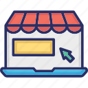 click, eshop, marketplace, online advertising, online business icon