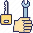key, key issues and concerns, repairing, spanner, working
