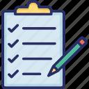 clipboard, document, list, sheet, task