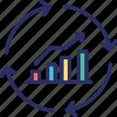 bar chart, bar graph, growth chart, progress chart, trends and patterns