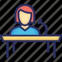 front desk, help desk, info desk, information counter, reception