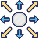 changes, changing, dart, direction, network icon