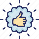 best, best practice, positive, positive response, thumb up icon