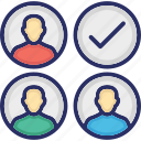 approved, candidate, group, selection, shortlist icon
