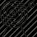 arrow, business, development, goal, startup, success, target icon