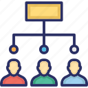 company team, hierarchy, hierarchy of team, hr tech, tech icon
