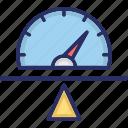 balanced scorecard, performance, productivity, seesaw, speedometer