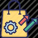 automation, cog, order, sales, sales force, shopping bag